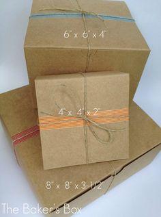 5 Each  Natural Kraft Tuck Top  Bakery Boxes  Gift by erkline2012, $2.99