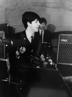 The Beatles rehearsing at The Cavern Club, by Michael Ward