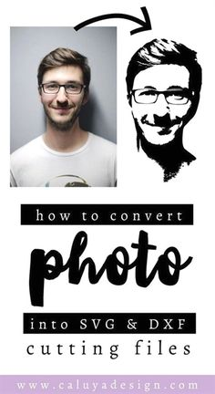 How to convert a portrait photo into cuttable SVG & DXF file for Cricut & Cameo SIlhouette. You can convert your pet's, loved one's and any memorial photo, into cuttable SVG & DXF file easily! With a little help from Adobe Illustrator & Adobe Photoshop! Inkscape Tutorials, Cricut Tutorials, Diy Craft Projects, Diy Crafts, How To Projects, How To Make Crafts, Homemade Crafts, Decor Crafts, Fabric Crafts