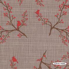 Kate & Birdie Paper Co. Winter`s Lane Winterberry in Grey