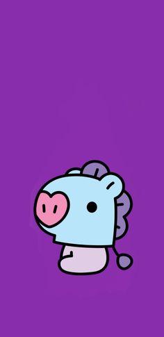 Purple Wallpaper Iphone, Butterfly Wallpaper, Bts Wallpaper, Drawing Cartoon Characters, Cartoon Drawings, Mirror Painting, Line Friends, Bts Drawings, Bts Chibi