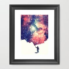 Painting+the+universe+Framed+Art+Print+by+Badbugs_art+-+$32.00