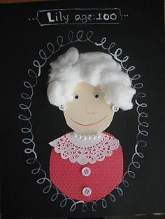 100 Years Old: I love this project for the 100th day of school! The children have to draw themselves as if they were 100 years old.