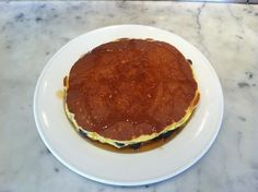 Our famous orange pancakes with blueberries