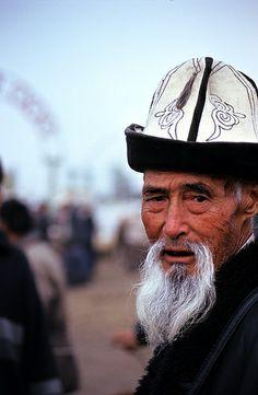 Kyrgiz man in traditional hat