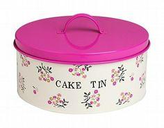 Floral cake tin