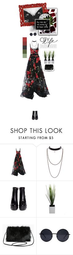 """""""Poor little girl still waiting for her happy ending"""" by inlovewithabook ❤ liked on Polyvore featuring Marchesa, Robert Clergerie, Torrid and Retrò"""