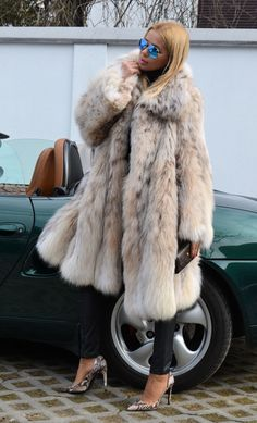 Swinger Lynx FUR Coat Cites Like Chinchilla Royal Mink FOX Sable Luchs Jacket | eBay