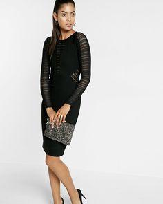 mesh inset sheath dress