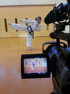 Making a Taekwondo teaching video with boosabum Hugo Bergwerff.  February 8th 2013.