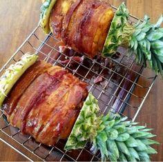 Leckere Swineapple vom Grill