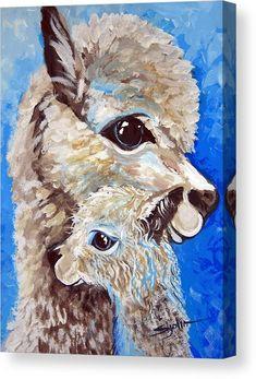 River Ridge Alpaca Canvas Print / Canvas Art by Patty Sjolin Alpacas, Alpaca Drawing, Painting & Drawing, Watercolor Paintings, Llama Arts, Cute Alpaca, Canvas Art, Canvas Prints, Illustrations