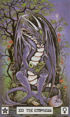 III - L'impératrice - Dragon de tarot par Peter Pracownik