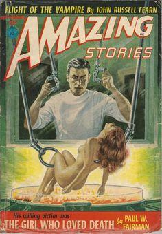 The Girl Who Loved Death in Amazing Stories September 1952 by Paul W. Fairman on Parigi Books Science Fiction Magazines, Science Fiction Art, Mad Science, Pulp Fiction Comics, Sci Fi Novels, Cyberpunk Character, True Detective, Pulp Art, Retro Futurism