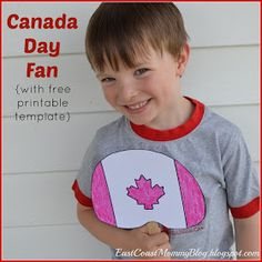 East Coast Mommy: Canada Day Fan {with free printable template} Craft Stick Crafts, Crafts For Kids, Craft Tutorials, Diy Projects, Free Tutorials, Canada Day Crafts, Science Experiments For Preschoolers, Canada Holiday, Happy Canada Day
