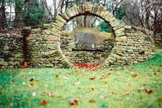 Moon gate...wish I had this for my front entrance. Someday perhaps?