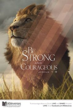 "Joshua 1:9 WHY can we be strong and courageous? read the rest of the verse...""do not tremble or be dismayed FOR... the Lord is with you wherever you go"""