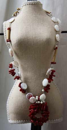 Coral and Cash Necklace