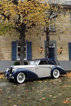 1946 Delahaye Cabriolet - Design for all your building construction plans. Auto Retro, Retro Cars, Vintage Cars, Vintage Ideas, Bugatti, Lamborghini, Cadillac, Classy Cars, Cabriolet