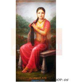 Rajasthan Paintings, Pretty women,