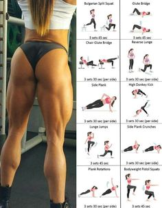 No junk in your trunk? Then listen up: This workout is your guaranteed booty building solution. Well, you're in luck! I've got the perfect workouts to transform any underdeveloped backside into the owner's best asset. Everyone wants perfect glutes — those Fitness Workouts, Fitness Motivation, Butt Workout, You Fitness, At Home Workouts, Health Fitness, Fitness Women, Workout Tips, Physical Fitness