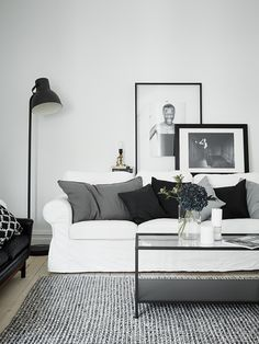 Black & White - Leather sofa | Karl-Erik Ekselius