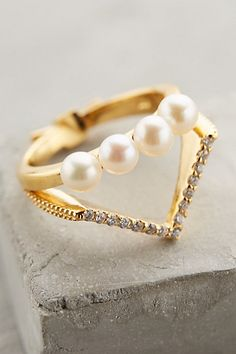 Pearled Tiara Ring by Gold Philosophy