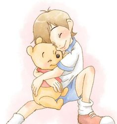 Christopher Robin and Winnie the Pooh. ❣Julianne McPeters❣ no pin limits Disney And Dreamworks, Disney Pixar, Walt Disney, Disney Characters, Disney Fan Art, Disney Love, Disney Magic, Winnie The Pooh Friends, Disney Winnie The Pooh