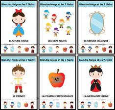 Jeu des sept familles des contes traditionnels : Blanche-Neige et les sept nains Petite Section, Busy Bags, Tot School, 5 Year Olds, Art Education, Activities For Kids, Fairy Tales, Animation, Blog