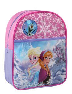 Mochila Frozen™: Esta mochila tiene licencia oficialFrozen™.Es de tejido rosa y violeta con cremallera y tirantes ajustables.Mide…