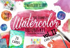 Watercolor Textures - Card Edition by Seaside Digital   - free file week beginning 30th January