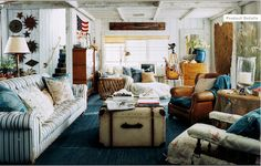 Ralph Lauren Home Hither Hills Studio Collection New England Coastal Style Nantucket Martha's Vineyard Nautical Style Blue and White