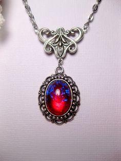 Dragon's Breath Fire Opal Art Nouveau by FashionCrashJewelry