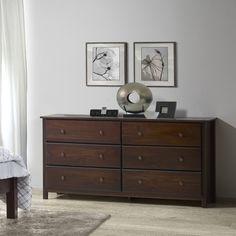 Grain Wood Furniture Shaker 6 Drawer Dresser U0026 Reviews | Wayfair