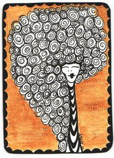 love this idea for a zentangle ATC