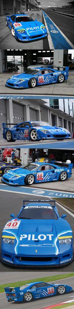1995 Ferrari F40 GTE LM Pilot / competition liveries / Italy / blue