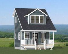 16x16 Tiny House -- #16X16H3A -- 492 sq ft - Excellent Floor Plans