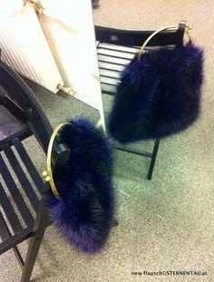 STERNENTAU handcrafted bags fake fur and other crazy stuff new flausch dark violet flausch bag Fur Bag, Fake Fur, Austria, Stiletto Heels, Dark, Handmade, Hand Made, High Heels, Spike Heels