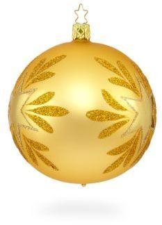 Inge's Christmas Decor Star Power Gold Glass Ornament