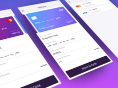 Payment Settings - Credits Cards by Guillaume Marc