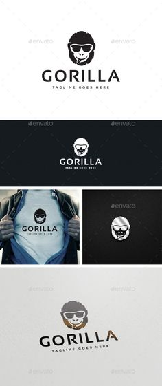 Buy Gorilla Logo Template by designgarrad on GraphicRiver. Simple, clean, bold, versatile and professional logo suitable for any creative business or sunglasses companies. D School, Branding Design, Logo Design, Bag Names, Professional Logo, Core Values, Cool Logo, Logo Inspiration, Logo Templates