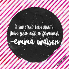 Always my WCW, Emma Watson knows there's no way around it. If you want equality, you are a feminist. ♀️=♂️✊✊✊✊✊✊ | Feminist | Feminista | Feminism | Future is Female | Black and Pink | Pussy Cats Apparel | Gender Equality | Female | Women's Rights | Woman | Sextremism | Feminist Quotes | Femme | Women Supporting Women | Female Empowerment | Empowered Women | Intersectional Feminism |