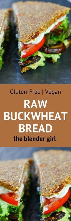 This raw vegan gluten-free buckwheat bread from Russell James is incredible.