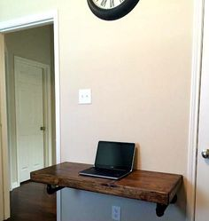 This is the perfect desk for the person that works from home but doesn't want a huge office desk. Small enough to fit in a tight corner but beautiful enough to be the focal point of your favorite accent wall, this desk is all you need to get to work... uh and maybe a laptop and a cup of coffee. With the included steel pipe supports, this desk can hold almost anything you can throw at it. Comes with a cable management hole to keep it looking good.  The best thing? It also doubles as a bar…