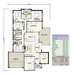 Got a Custom Home Project in mind? Double Storey House Plans, Fan Palm, Custom Homes, Home Projects, Building A House, Floor Plans, Australia, House Design, Flooring