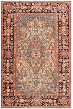 Lot 59. Mohtashem Kashan carpet circa 1880 4 ft 8 in x 7 ft