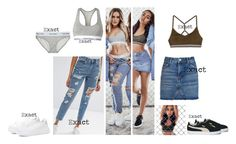 """""""perrie and leigh-anne for fabulous magazine"""" by leigh-jena ❤ liked on Polyvore featuring Topshop, Puma, Calvin Klein, Boohoo and ASOS"""