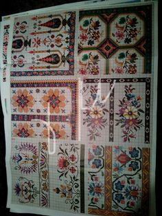 Fabrics, Embroidery, Quilts, Blanket, Flowers, Needlepoint, Crosses, Seed Stitch, Templates