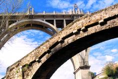El puente de San Jordi fue un proyecto urbanístico innovador por el empleo de cemento armado encofrado. #Alcoy #Alcoi #puentes