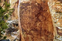 Dry Fork Canyon, on the lower west portion of the Red Cloud Loop north of Vernal, has some of America's most impressive petroglyph panels.